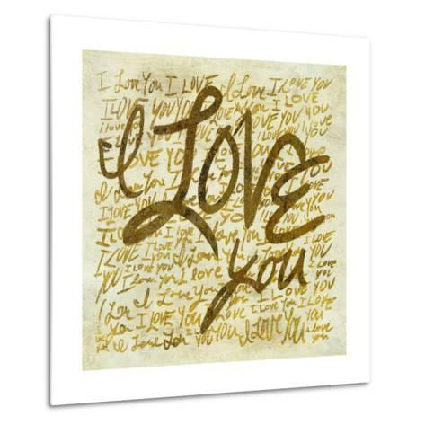 I love you-PI Studio-Metal Print