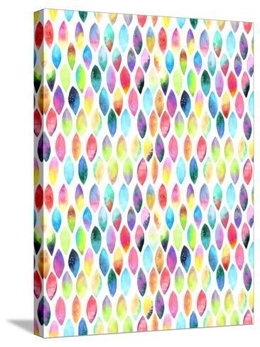Seamless Pattern of Paint Splash Watercolor Drops-Jane Lane-Stretched Canvas Print