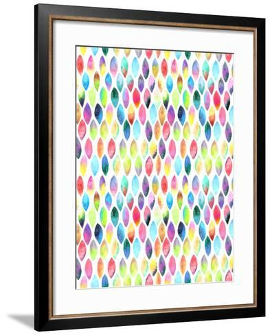 Seamless Pattern of Paint Splash Watercolor Drops-Jane Lane-Framed Art Print