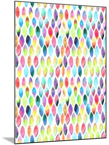 Seamless Pattern of Paint Splash Watercolor Drops-Jane Lane-Mounted Art Print