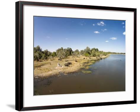 Aerial View of Hippo Pond, Moremi Game Reserve, Botswana-Paul Souders-Framed Art Print