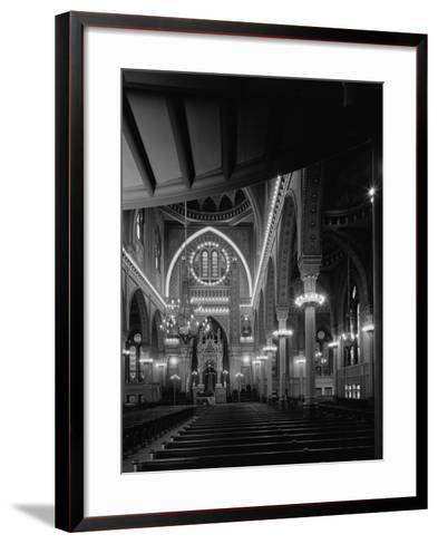 Interior of the Plum Street Temple-GE Kidder Smith-Framed Art Print