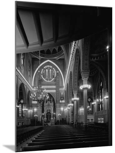 Interior of the Plum Street Temple-GE Kidder Smith-Mounted Photographic Print
