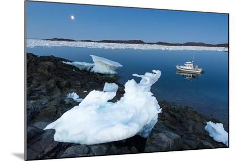 Full Moon and Iceberg, Repulse Bay, Nunavut Territory, Canada-Paul Souders-Mounted Photographic Print