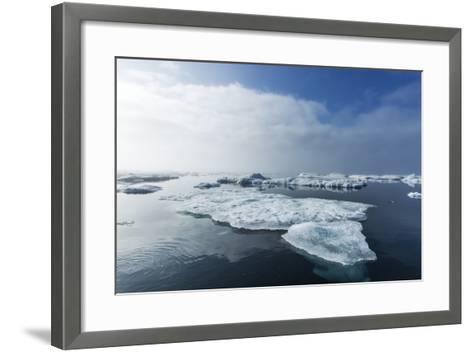 Melting Sea Ice, Repulse Bay, Nunavut Territory, Canada-Paul Souders-Framed Art Print