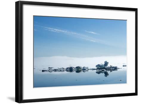 Melting Sea Ice, Hudson Bay, Nunavut Territory, Canada-Paul Souders-Framed Art Print