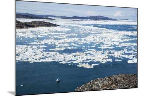 Expedition Boat and Sea Ice, Repulse Bay, Nunavut Territory, Canada-Paul Souders-Mounted Photographic Print