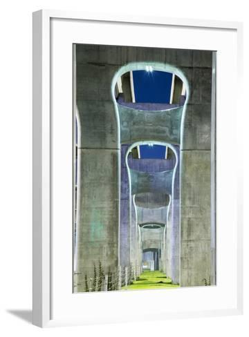 Highway Overpass, Chengdu, Sichuan Province, China-Paul Souders-Framed Art Print