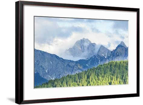 The Mount Sernio Emerges from the Clouds and Stands with Majesty Abiove the Green Woods, Alpi Carni-Gabriele Bano-Framed Art Print