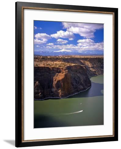 Boaters on Lake Billy Chinook-Steve Terrill-Framed Art Print