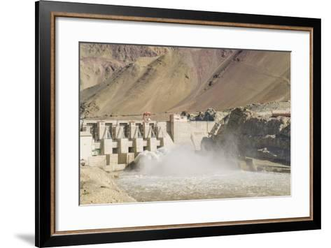 Alchi, the Dam along Indus River-Guido Cozzi-Framed Art Print