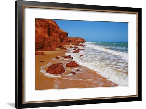 Cliff Landscape at Cape Peron-Frank Krahmer-Framed Art Print