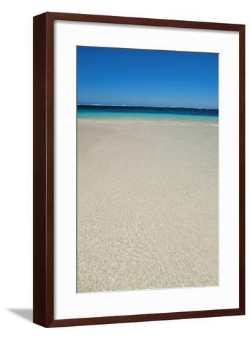 Tropical Lagoon Turquoise Bay-Frank Krahmer-Framed Art Print
