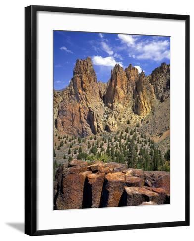 Smith Rock, Oregon-Steve Terrill-Framed Art Print