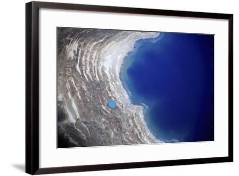 Dead Sea from Above.-Stefano Amantini-Framed Art Print