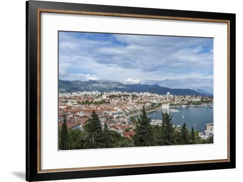 Split Harbor and Old Town-Rob Tilley-Framed Art Print