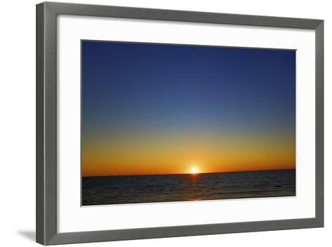 Sunset Impression at Ocean-Frank Krahmer-Framed Art Print