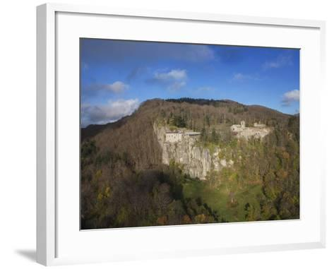 Air View of La Verna Hermitage-Guido Cozzi-Framed Art Print