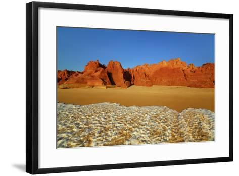 Cliff Landscape at Cape Leveque-Frank Krahmer-Framed Art Print