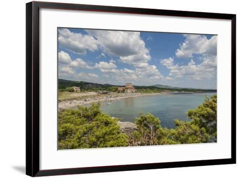 The Beach near 'Tagliata Etrusca', Ansedonia-Guido Cozzi-Framed Art Print