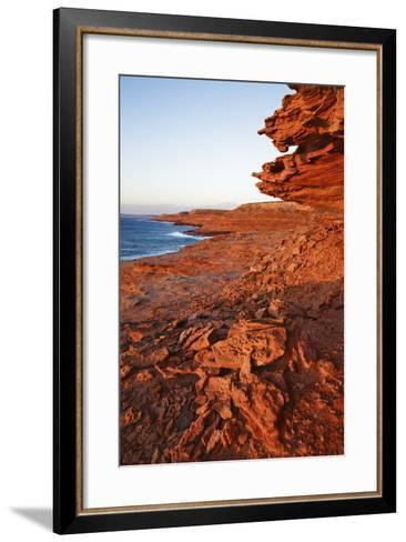Cliff Landscape at Eagle Gorge-Frank Krahmer-Framed Art Print