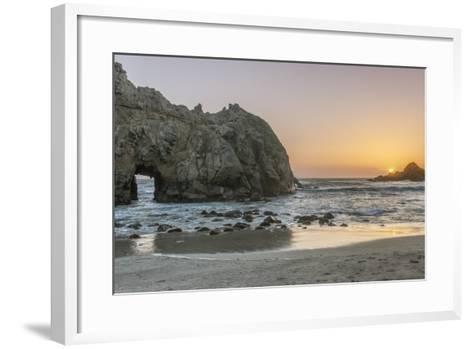 Pfeiffer Beach Sunset-Rob Tilley-Framed Art Print