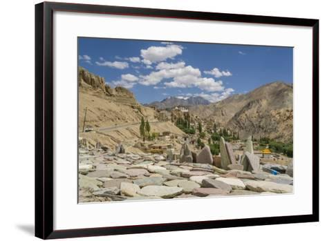 Lamayuru, Sacred Stones near the Monastery-Guido Cozzi-Framed Art Print
