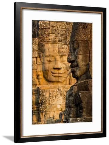 Bayon Temple, Angkor Wat, Siem Reap, Cambodia-Paul Souders-Framed Art Print