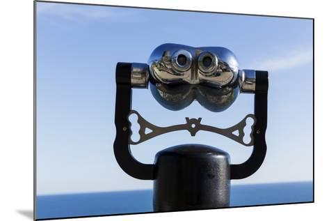 Binoculars Overlooking Mediterranean Sea in Vernazza, Cinque Terre, Italy-Paul Souders-Mounted Photographic Print