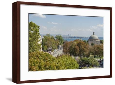 Promenade in Front of Aya Sofya-Guido Cozzi-Framed Art Print
