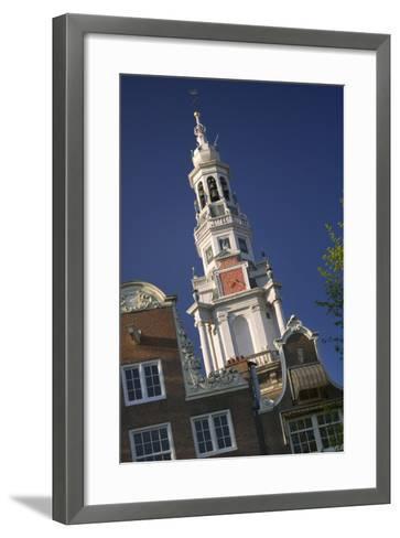 Zuiderkerk Steeple-Jon Hicks-Framed Art Print
