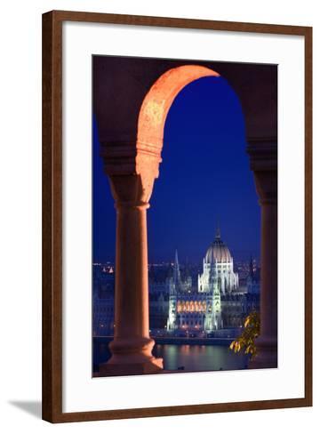 Parliament Building in Budapest-Jon Hicks-Framed Art Print