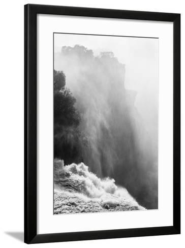 Zambezi River and Victoria Falls, Zimbabwe-Paul Souders-Framed Art Print