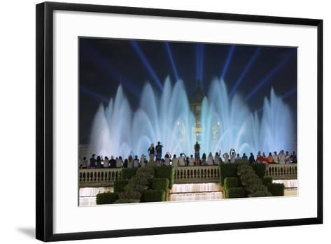 The Magic Fountain Light Show in Front of the National Palace, Barcelona.-Jon Hicks-Framed Art Print