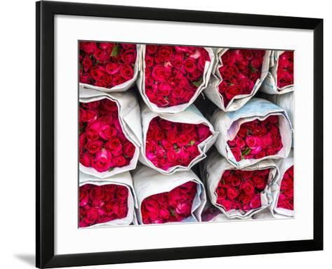 Bangkok Street Flower Market. Flowers Ready for Display at Many Places including Temples-Terry Eggers-Framed Art Print