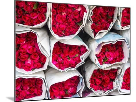 Bangkok Street Flower Market. Flowers Ready for Display at Many Places including Temples-Terry Eggers-Mounted Photographic Print