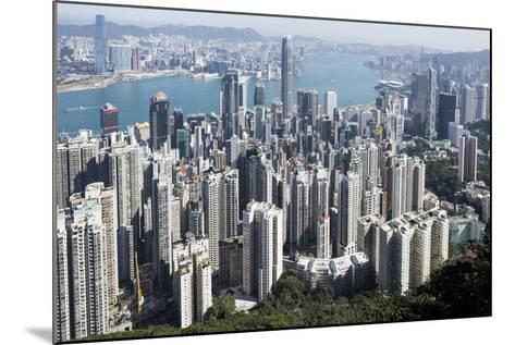 City Skyline from Victoria Peak, Hong Kong, China-Paul Souders-Mounted Photographic Print