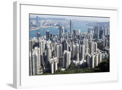 City Skyline from Victoria Peak, Hong Kong, China-Paul Souders-Framed Art Print