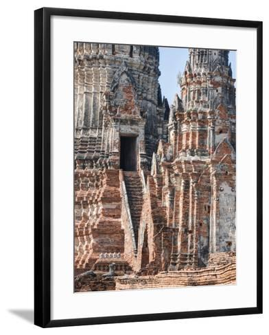 Phra Nakhon Si Ayutthaya Old Siam Tempel-Terry Eggers-Framed Art Print