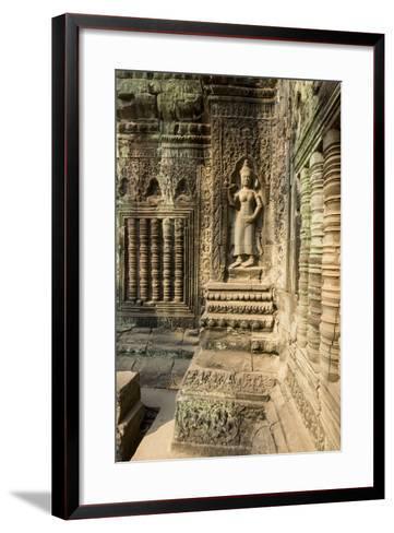 Stone Carvings of Apsara at Angkor Wat, Cambodia-Paul Souders-Framed Art Print