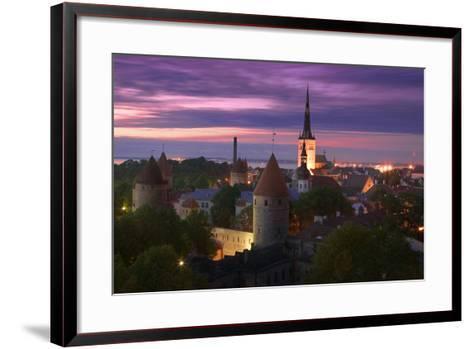 Skyline of Tallinn-Jon Hicks-Framed Art Print