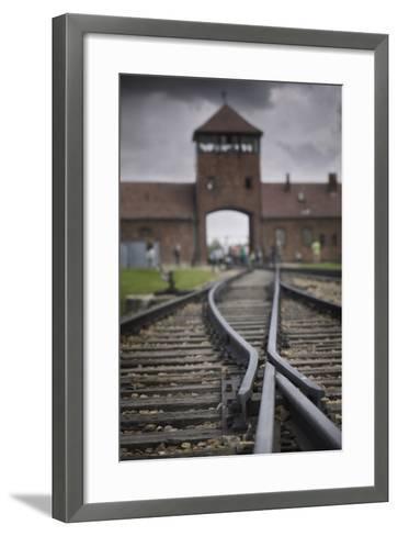Railroad Tracks Leading into KL Auschwitz II-Jon Hicks-Framed Art Print