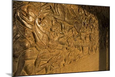Stone Carvings at Angkor Wat, Cambodia-Paul Souders-Mounted Photographic Print