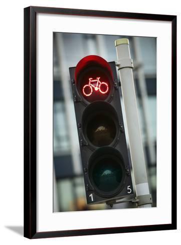 Bicycle Traffic Light-Jon Hicks-Framed Art Print