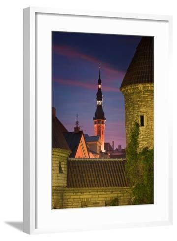 Town Hall and Town Wall-Jon Hicks-Framed Art Print