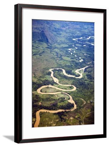 Meandering Wamena River, Baliem Valley, West Papua, Indonesia-Reinhard Dirscherl-Framed Art Print
