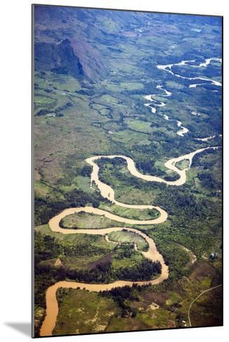 Meandering Wamena River, Baliem Valley, West Papua, Indonesia-Reinhard Dirscherl-Mounted Photographic Print