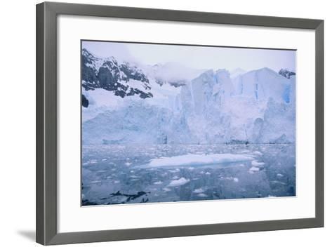 Icebergs Reflected in the Sea-DLILLC-Framed Art Print