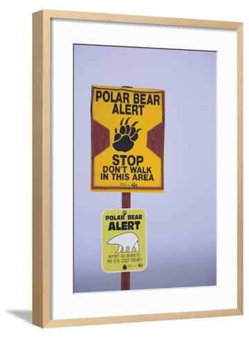 Cautionary Wildlife Sign-DLILLC-Framed Art Print