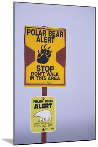 Cautionary Wildlife Sign-DLILLC-Mounted Photographic Print